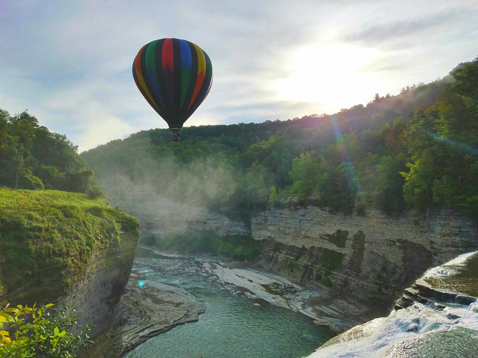 Liberty Balloon over Letchworth Park gorge