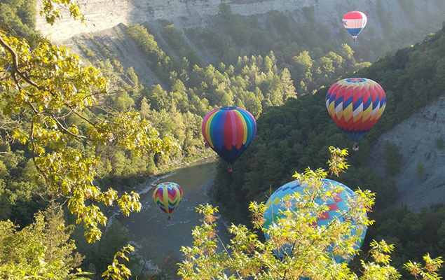 Balloons in Letchworth Gorge
